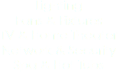Lighting Fans & Fixtures TV & Home Theater Network & Security Spa & Hot Tubs